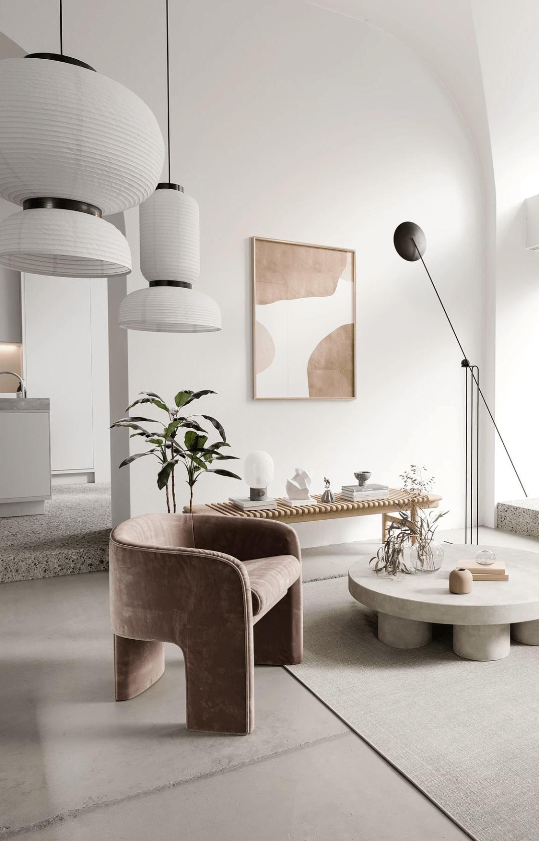 Nordic Style Apartment By Bronxes Studio Apartment Design Living Room Interior Modern Living Room