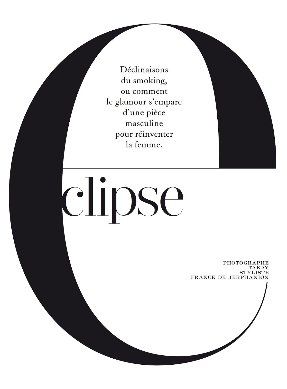 Typography for an editorial in Madame Magazine