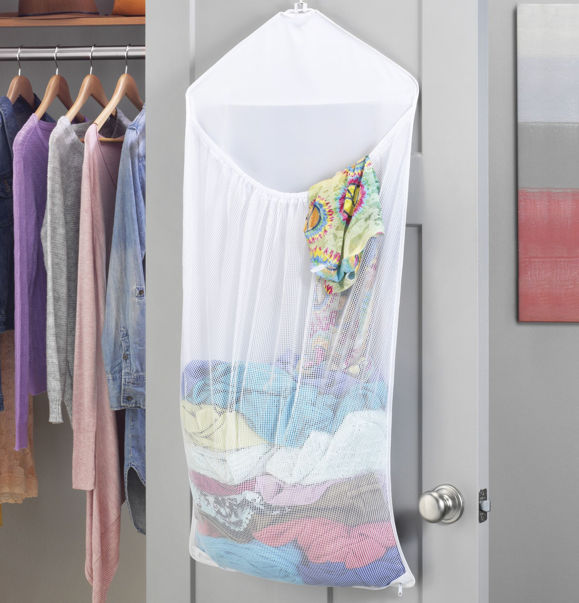 Over The Door Mesh Hanging Laundry Bag Hanging Laundry Bag Door