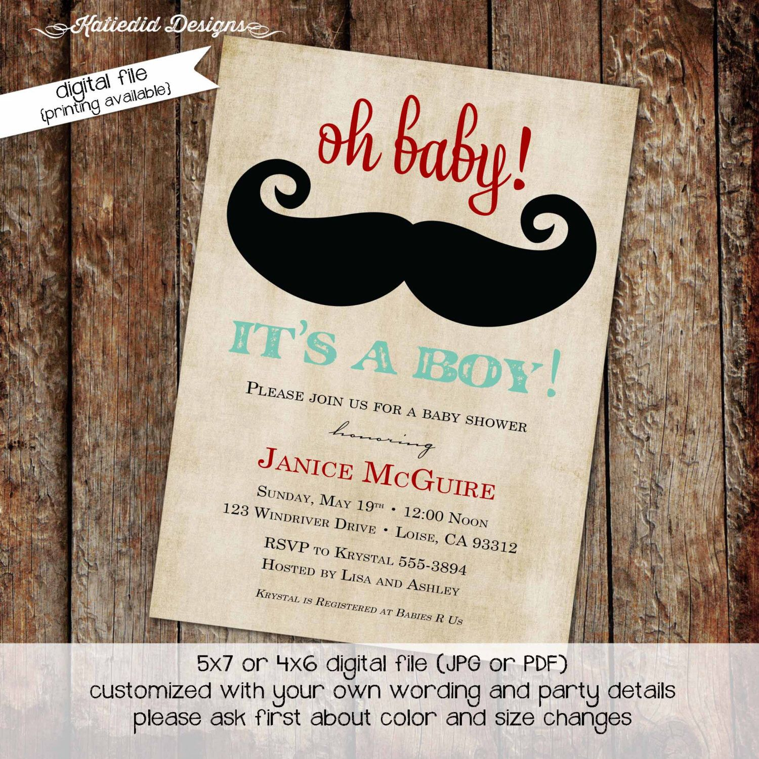 Mustache baby shower invitation baby boy little man mustache bash mustache baby shower invitation baby boy little man mustache bash gentleman birthday party christening item filmwisefo Image collections