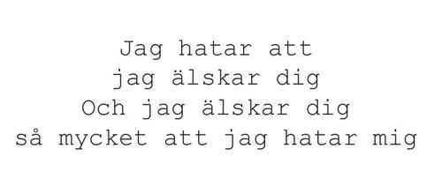 Jag hatar dating citat