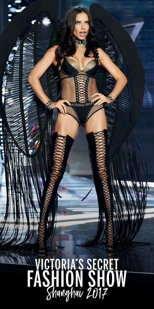 09cafd32c2c Adriana Lima in the VS x Balmain Fishnet Bodysuit. Select stores   online.