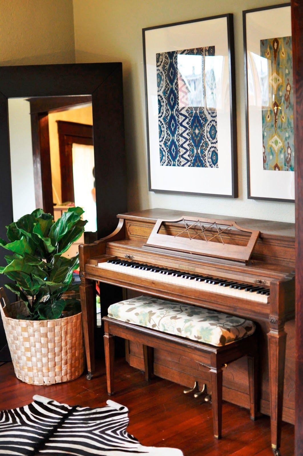 Ikea ribba frames zebra rug fiddle leaf piano room small space