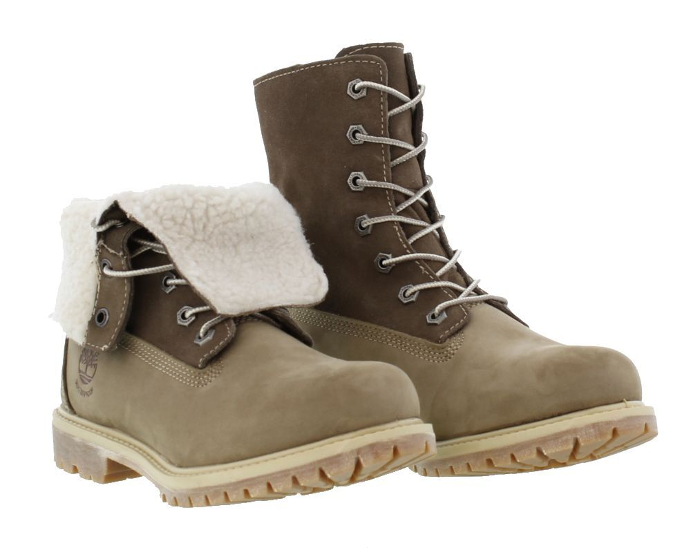 Timberland Boots, Womens Authentics Teddy Fleece Waterproof Taupe - £119.99