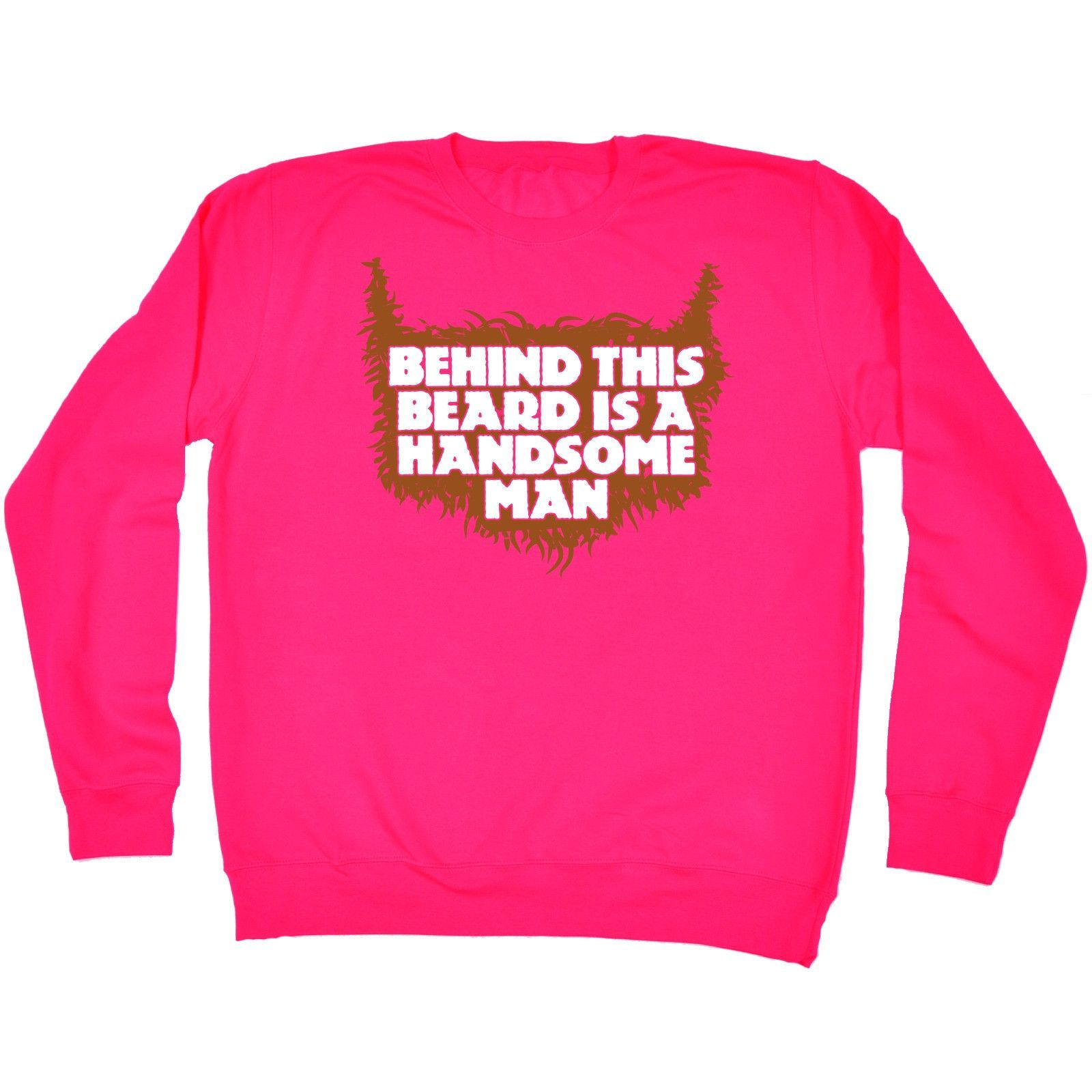 123t USA Behind This Beard Is A Handsome Man Funny Sweatshirt
