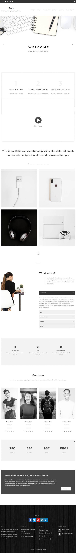 Beo - Portfolio and Blog WordPress Theme #websitetemplate ...