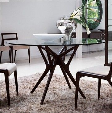 Porada Icaro 1 Round Glass Table