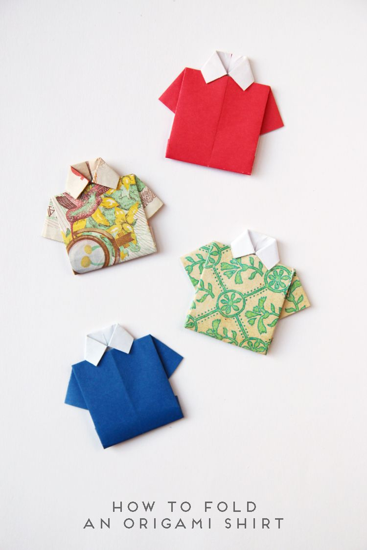 980a60de7 Learn how to fold this simple origami shirt. Perfect for Father s Day.  Origami Cards