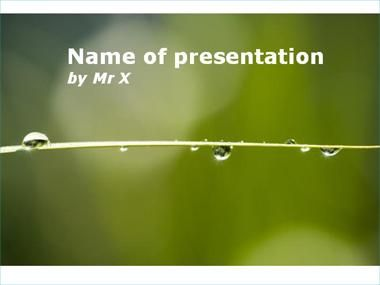 Rain And Nature Powerpoint Template  Powerpoint