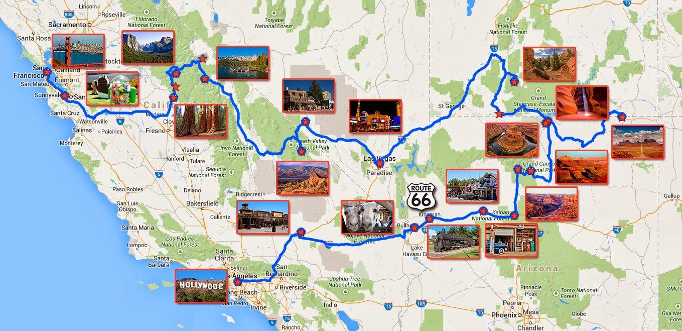Planificar Un Viaje De 15 Dias A La Costa Oeste De Estados Unidos