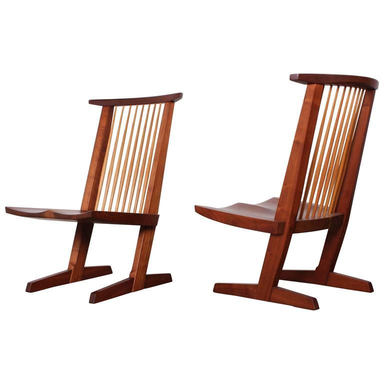 Pair Of Conoid Lounge Chairs By George Nakashima From A Unique Collection Of Antique And Modern Lounge C Nakashima Furniture George Nakashima Furniture Chair
