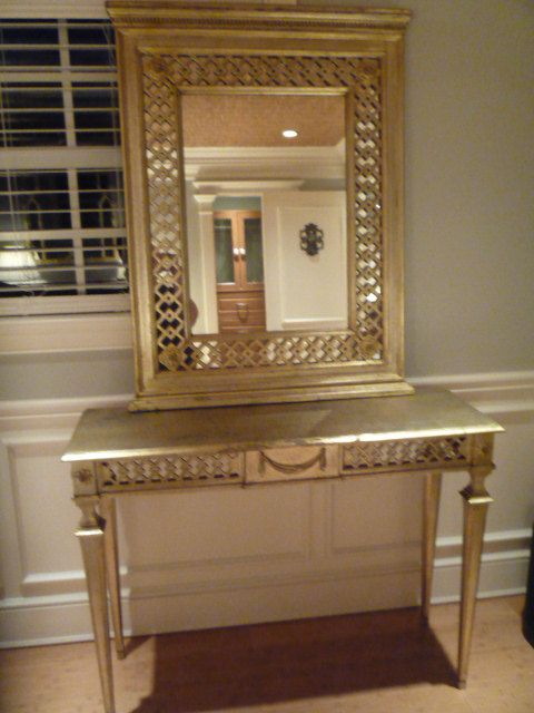 Vintage Florentine Mirror Table Console Console Table