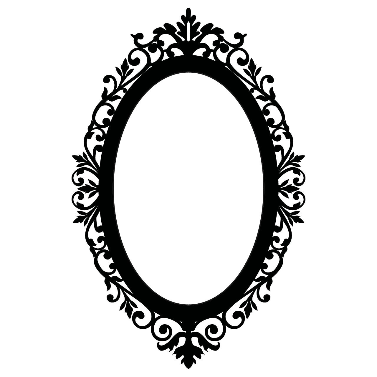 Ornate Oval Frame Wall Stickers / Wall Decals | Los descendientes ...