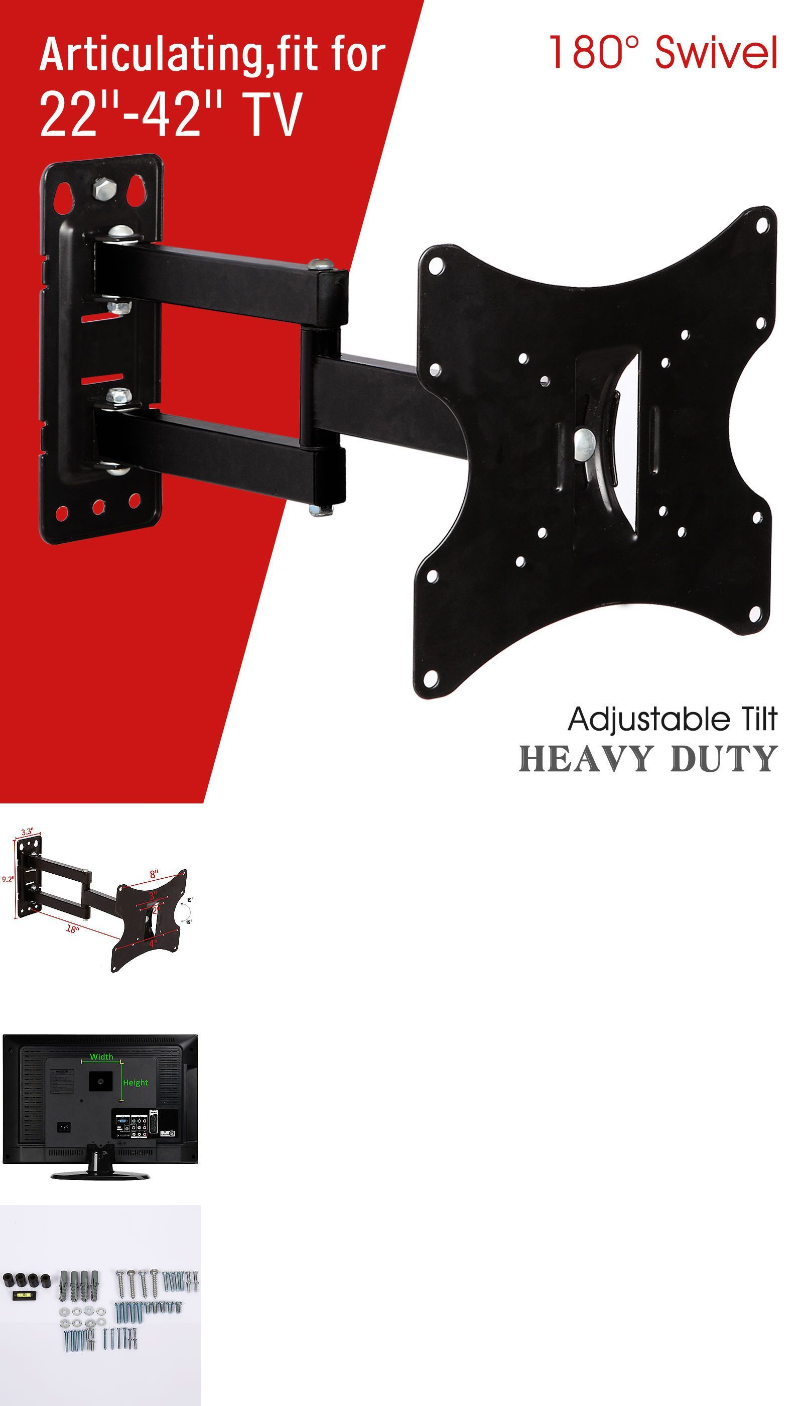Delightful TV Mounts And Brackets: 22  42 Lcd Led Plasma Flat Tilt Full Motion Swivel