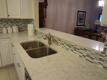 Viatera Minuet Quartz Countertops Kitchen Tiles Backsplash