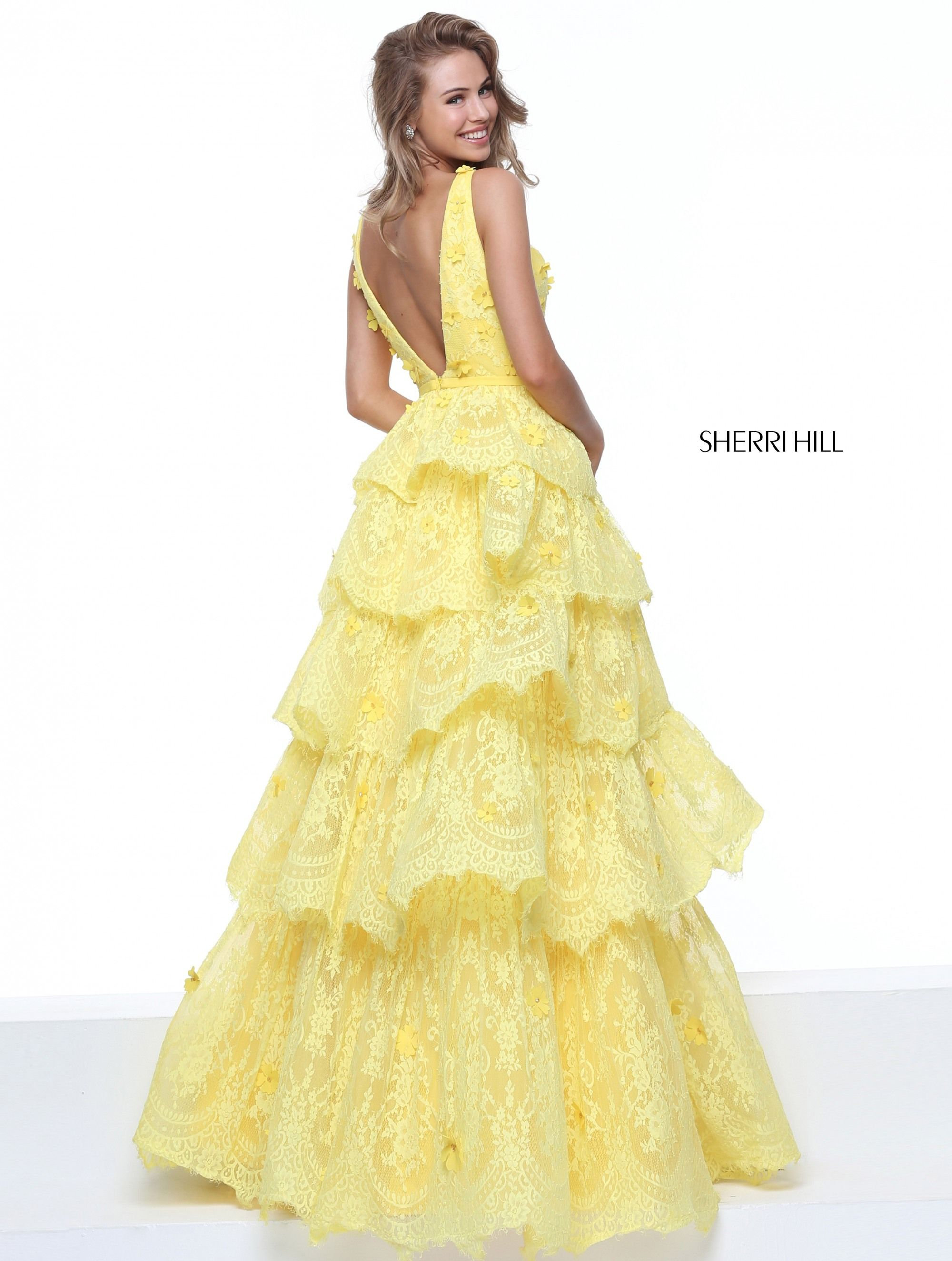 Be the belle of the ball in this flouncy sherri hill ball gown