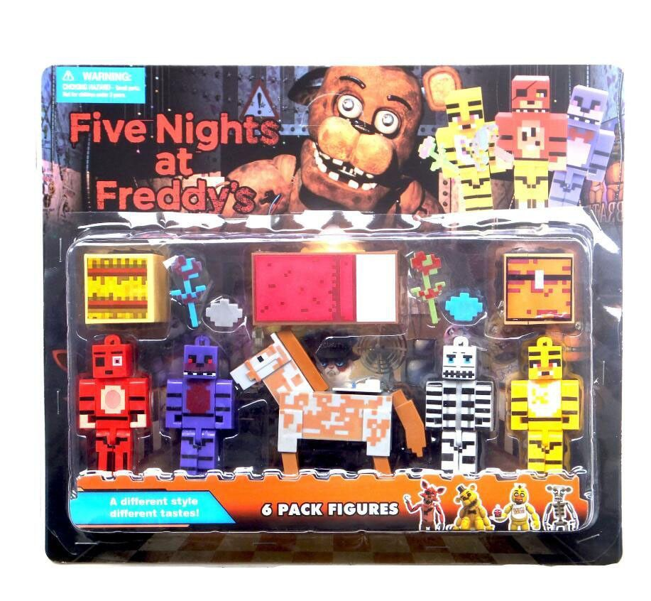 5pcs Set Minecraft Five Nights At Freddy S 4 Foxy Chica Bonnie Freddy Action Figures Freddy Toys Five Night Christmas Gifts Toys