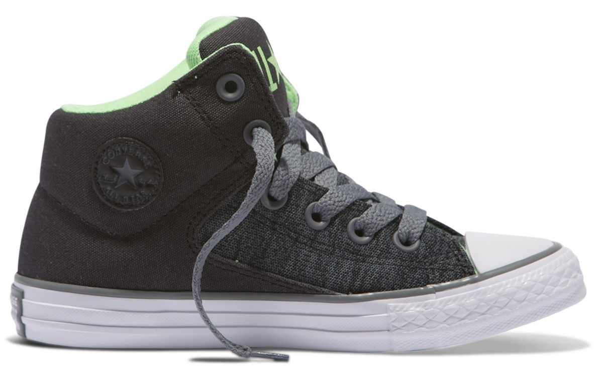 d06edc05d49c4f Converse Chuck Taylor All Star High Street Kids Hi Top Almost Black Cool  Grey