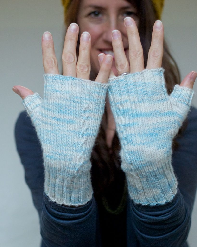 Loch Lomond mitts, pattern by Kendra Hope