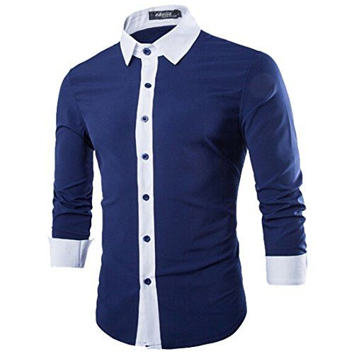 Lende Men/'s Pu Leather Patchwork T-shirt Long Sleeve Pullover Sweatshirts