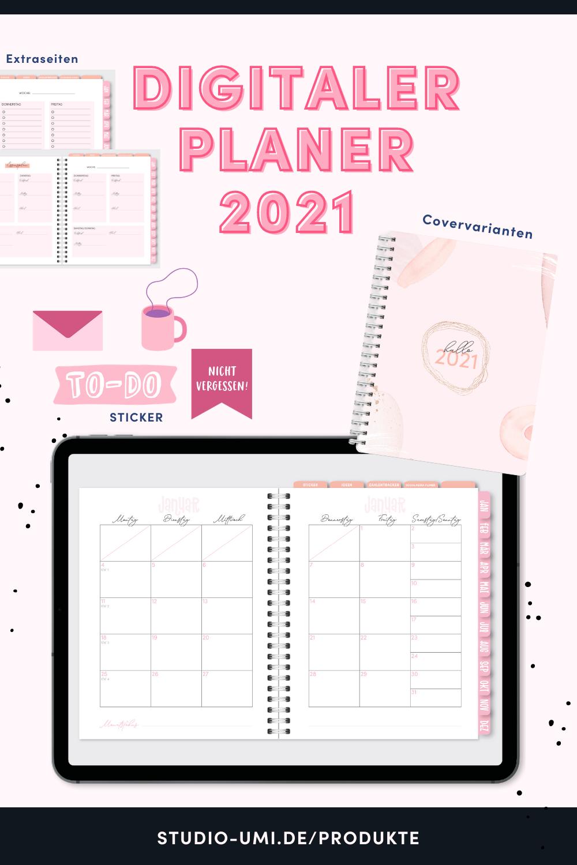 Digitaler Planer 2021 Fur Die Ipad App Goodnotes Ipad App App Planer