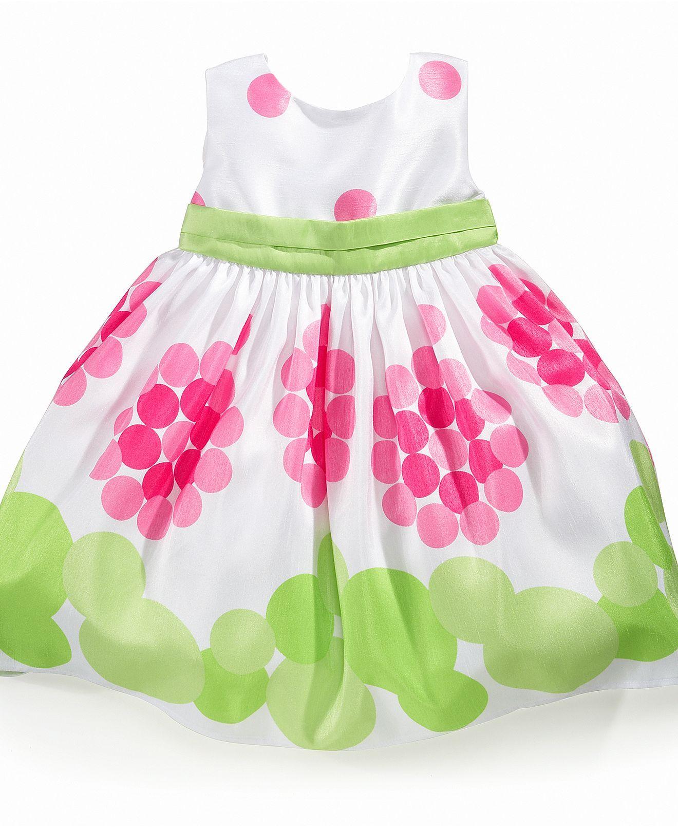 Blueberi Boulevard Baby Dress, Baby Girls Dot Dress - Kids Baby ...