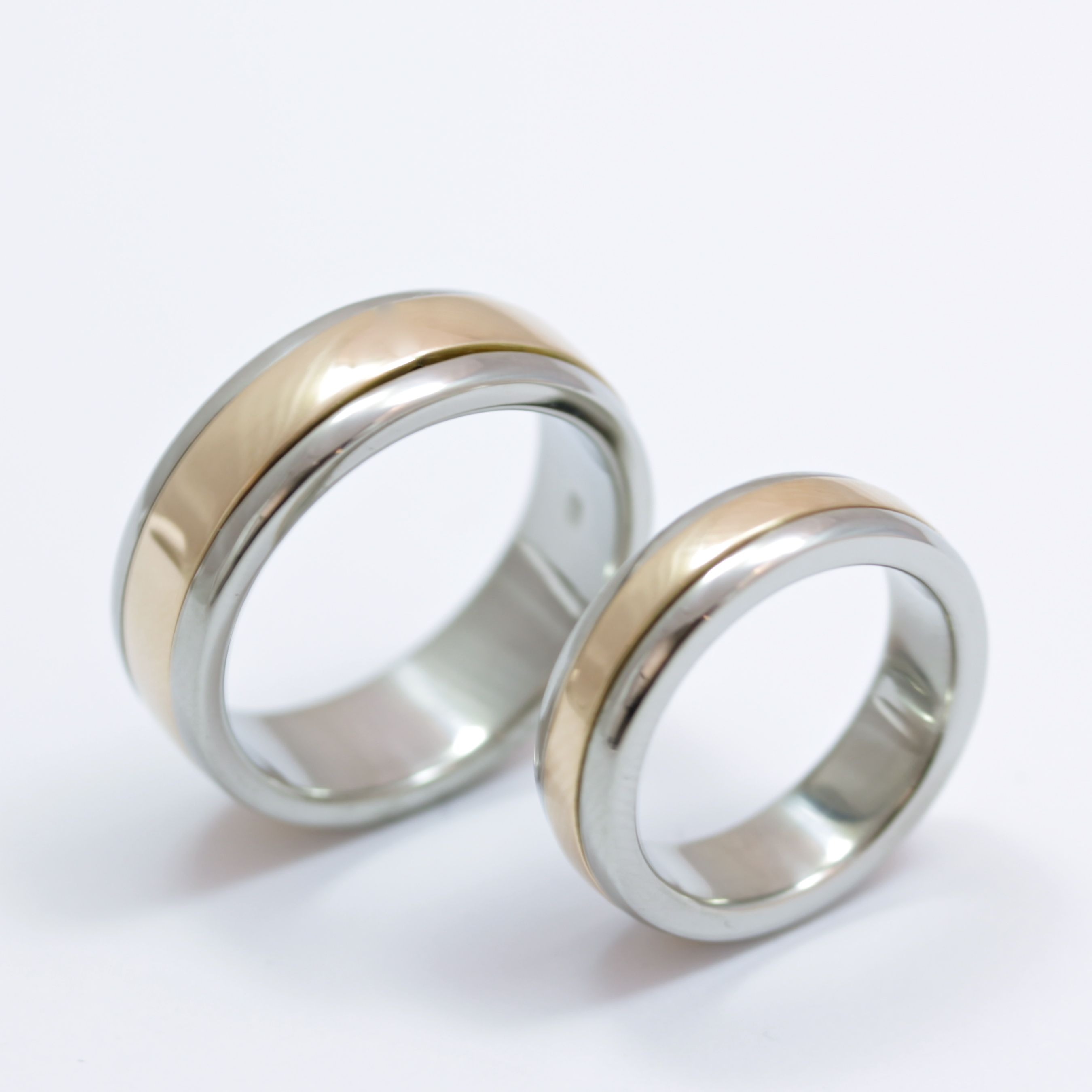 Palladium And Rose Gold Spinning Wedding Rings Cork City