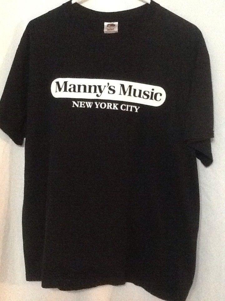ee2ac4d954f1 Manny s Music New York City Shirt Sz L RARE  FruitOfLoom  BasicTee ...