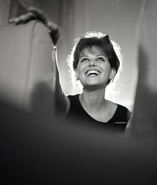Claudia Cardinale in the dubbing room for the film The Leopard, Rome, Italy, 1962.