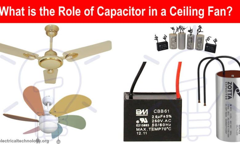 What Is The Role Of Capacitor In A Ceiling Fan Electrical Technology Ceiling Fan Capacitor Ceiling Fan Motor