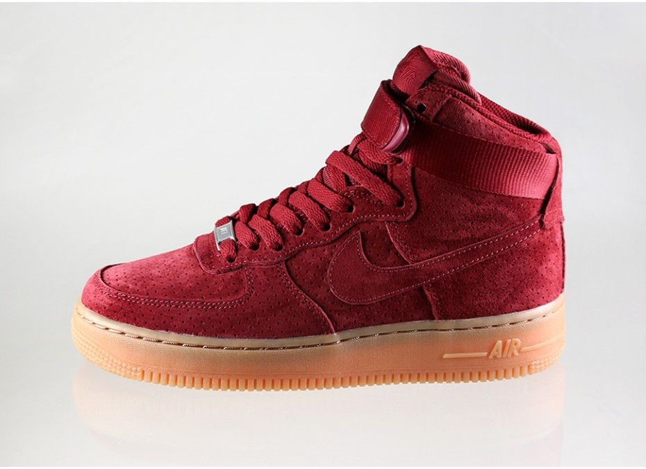 nike air force 1 high red suede womens nike 39 just do it 39 pinterest. Black Bedroom Furniture Sets. Home Design Ideas