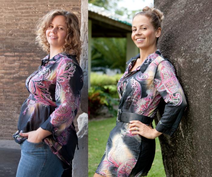 Ser saudável: uma transformação muito além do físico - antes e depois da Mimis