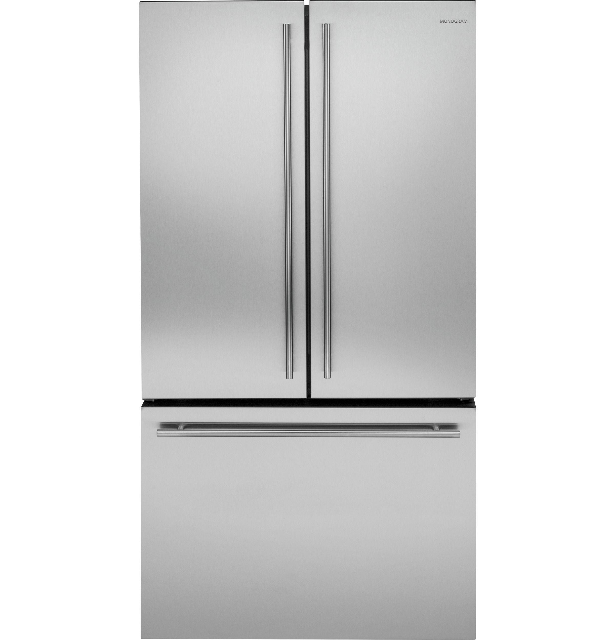 4000 Zwe23eshss Monogram Energy Star 23 1 Cu Ft Counter Depth French Door Refrigerator Monogr French Door Refrigerator French Doors Monogram Appliances