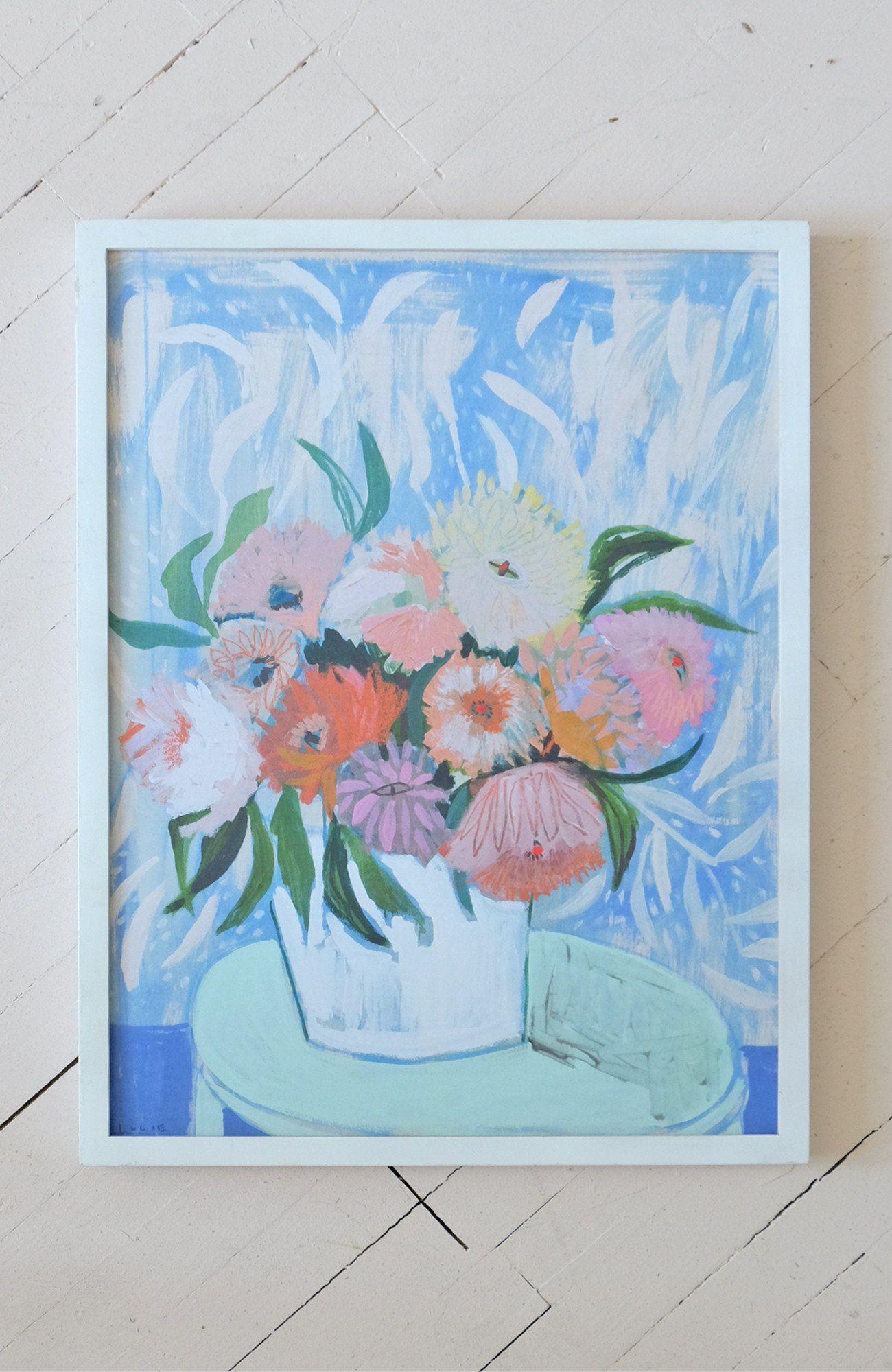Dahlias Flowers For Charlie Print Lulie Wallace Print Lulie Wallace Flowers Flower Painting