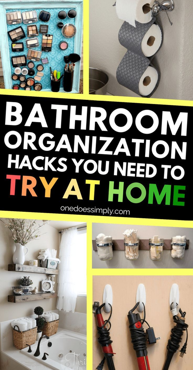 Photo of 10 Genius Hacks to Organize Your Bathroom | ONE DOES SIMPLY