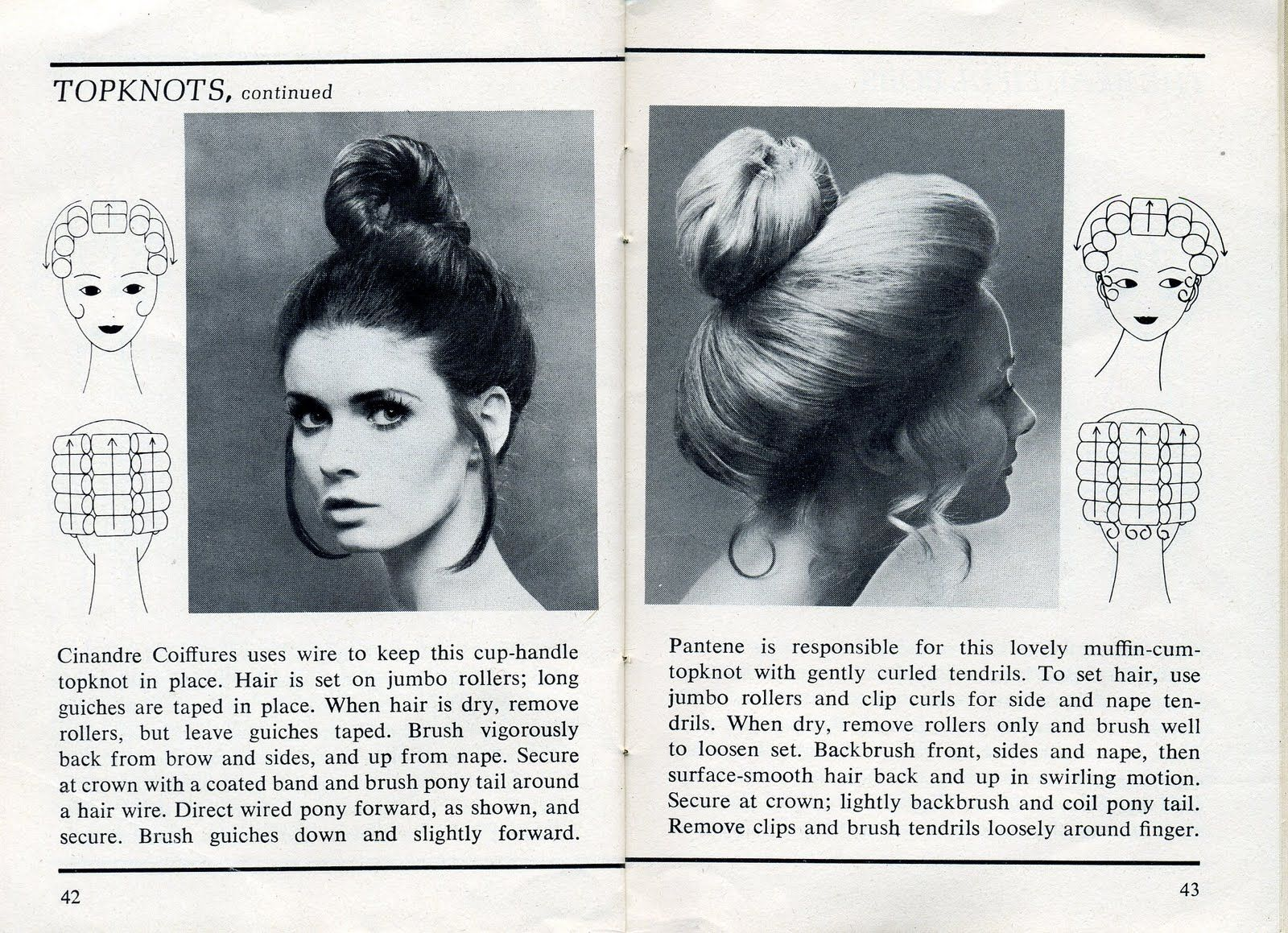 Beauty is a thing of the past: Topknots | 70s hair, 1970s hair tutorial, Hair patterns