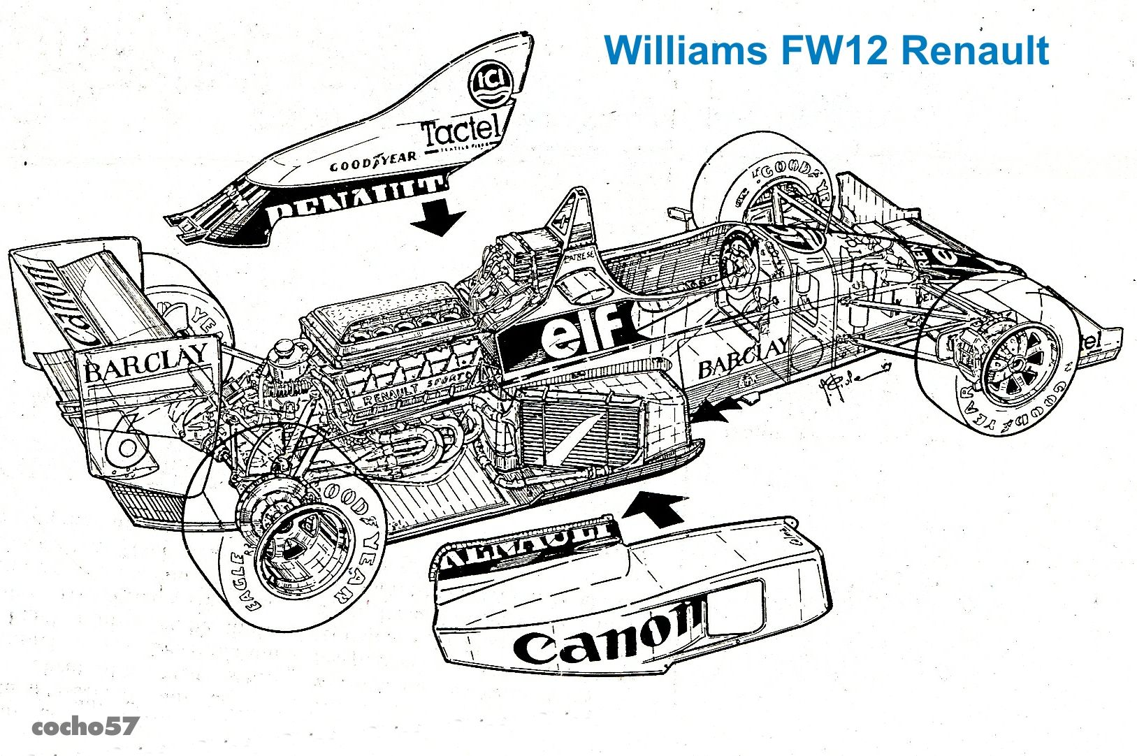 Williams Fw 12 Judd Diseno Patrick Head Enrique Scalabroni