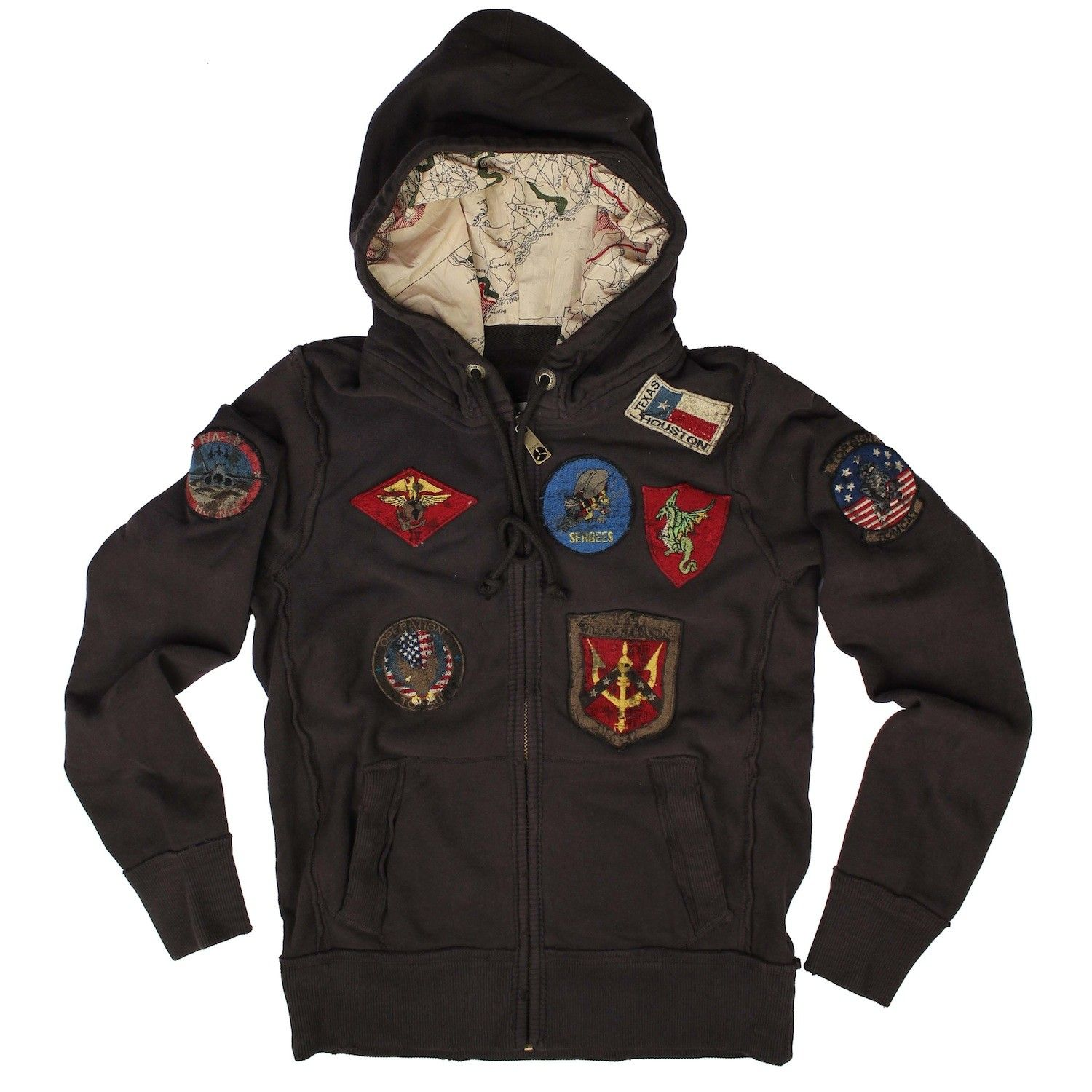 b5a45bb5e1c Official Top Gun Hoodie With Patches -  65 - Ships in 7-10 Days -