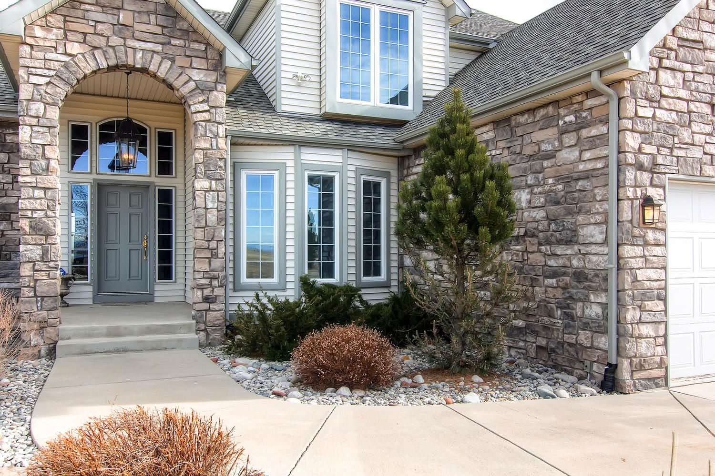 entry way. Estate homes, Backyard landscaping