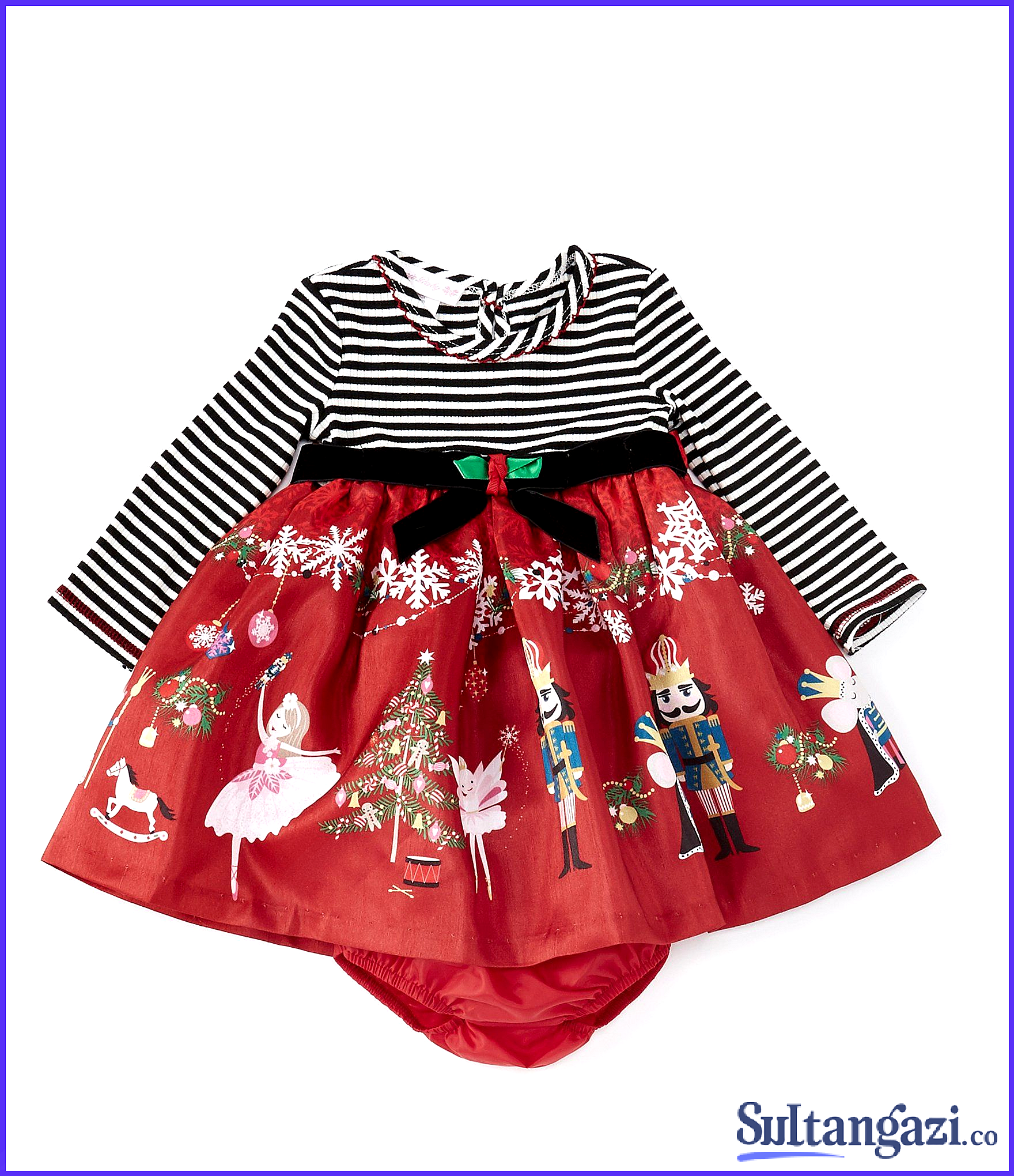 Green Nutcracker for Baby Toddler and Little Girls Bonnie Jean Christmas Dress