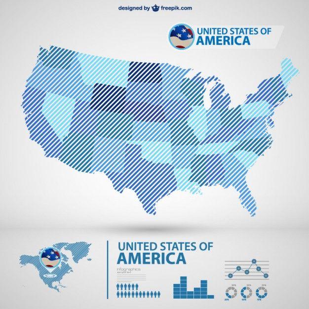 USA vector map infography | MOCKUPS | Pinterest | Mockup
