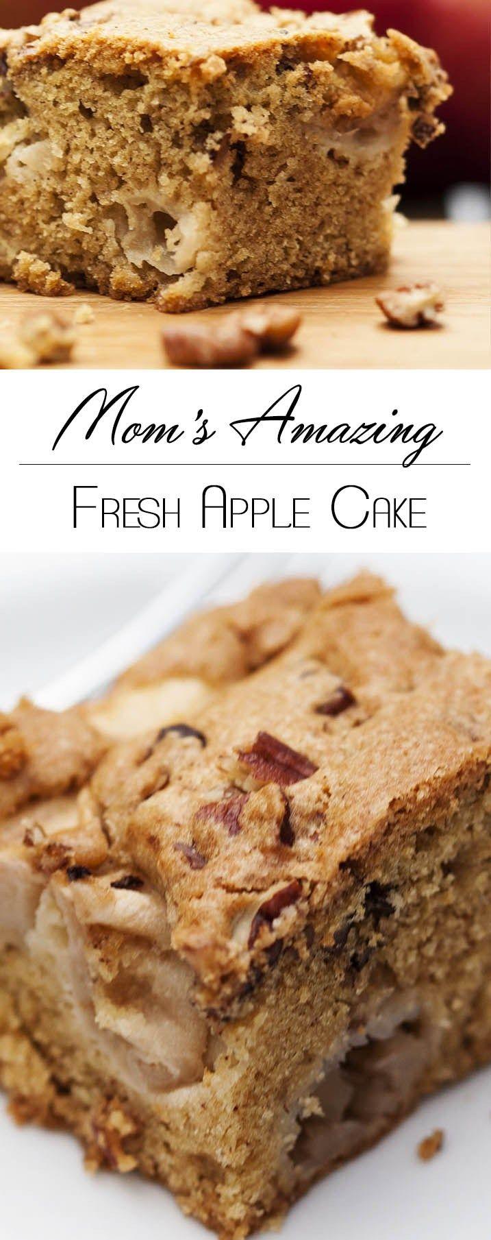 Mom's Amazing Fresh Apple Cake Recipe Apple cake