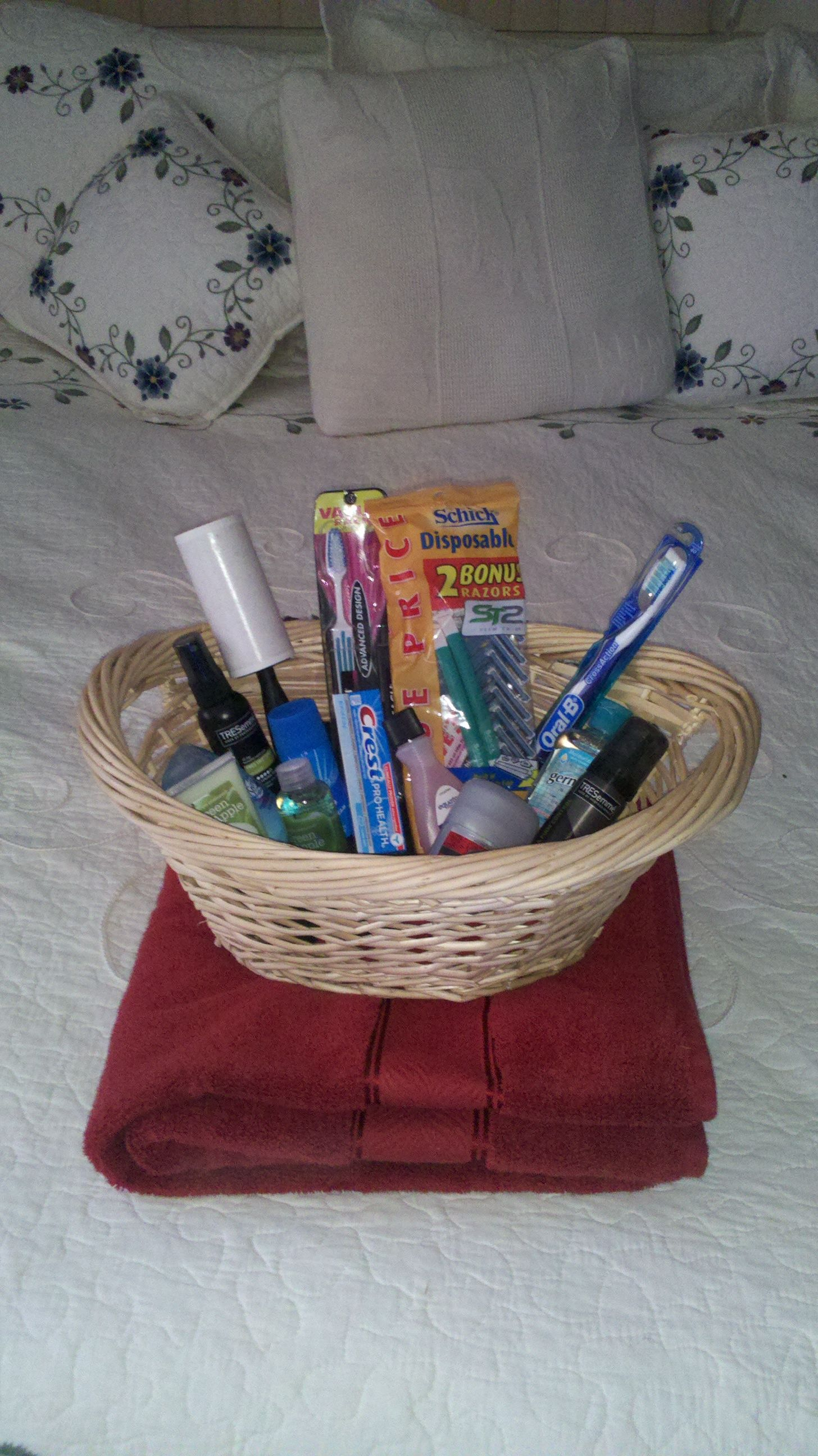 guest room basket  make your guests more comfortable in