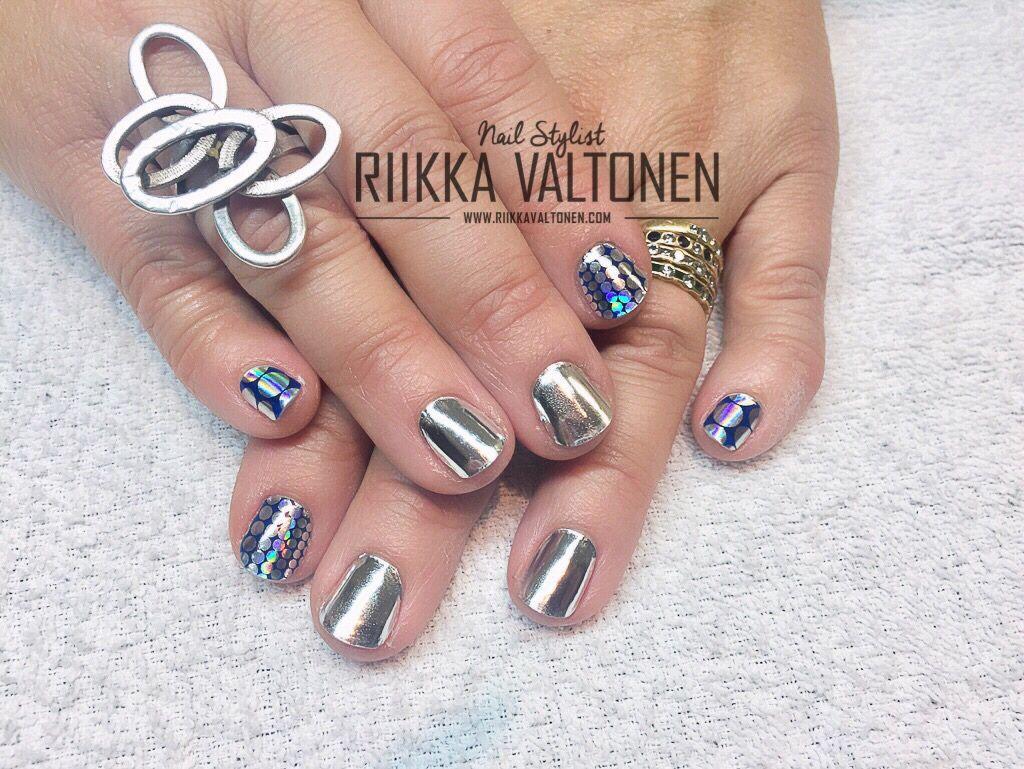 Minx on natural nails  #nails #nailart #stockholm #handpaintednailart