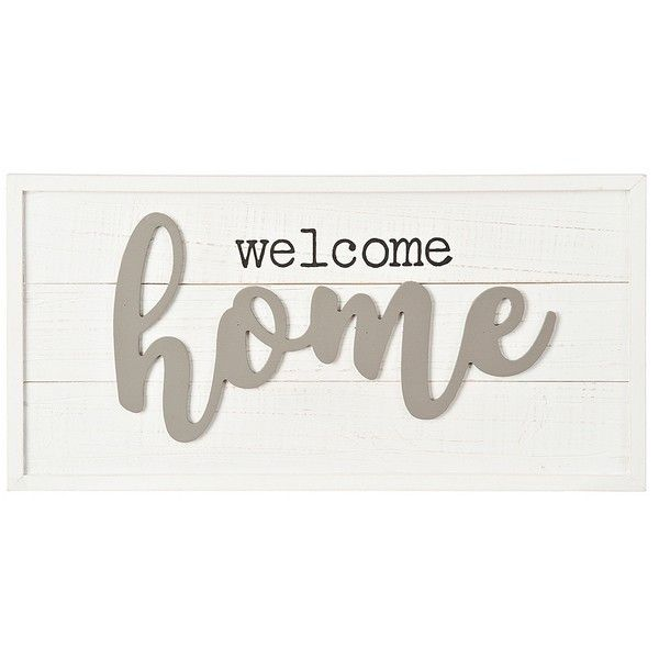 Welcome Home Pop Up Wooden Wall Plaque ($20) ❤ Liked On Polyvore Featuring  Home, Home Decor, Wall Art, Wooden Home Accessories, Wooden Wall Art, Quote  Wall ...