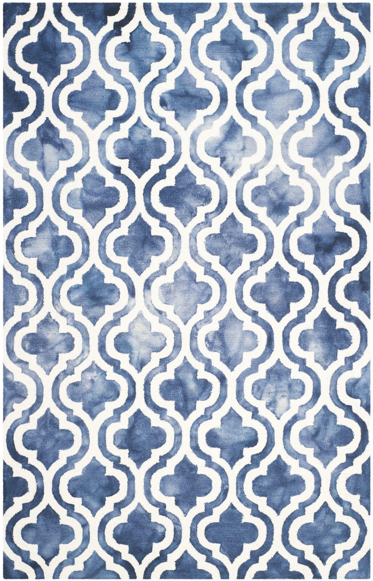 Elizabeth Hand-Tufted Dip Dye Navy/Ivory Area Rug