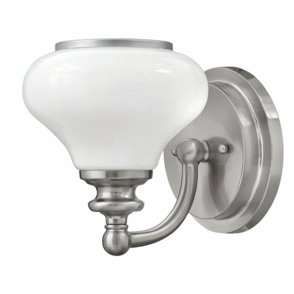 Hinkley Ainsley 1 Light Sconce In Brushed Nickel Hinkley Lighting In 2020 Bathroom Lighting Bathroom Wall Sconces Sconces