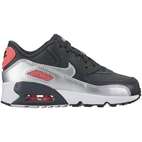 hot sales ce270 de345 Nike Kids Air Max 90 LTR Shoe AnthraciteMetallic SilverHot Punch 11C --  Visit the image