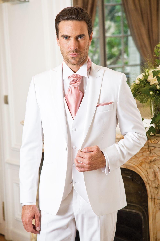 mens Tie with white suit whiteweddingsuits Ślub
