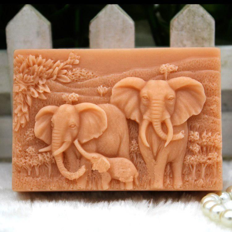 Resin ELEPHANT Silicone Soap Candle Mold Mould Melt /& Pour Plaster,